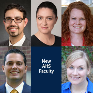 faces of five new faculty members