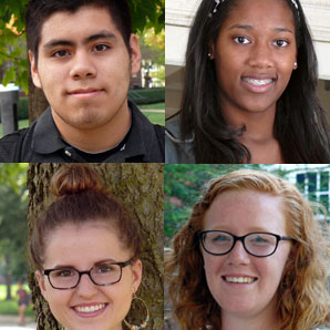 faces of four new students