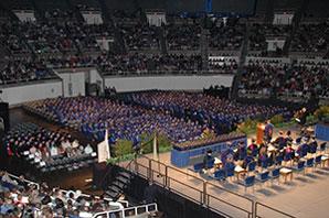 convocation in gymnasium