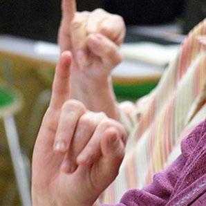 fingers using sign language