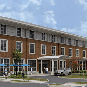 architectural rendering of building for Center for Wounded Veterens